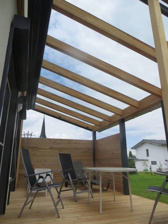 Holz Alu Terrassendach Terrassendacher Von Abc Bauelemente